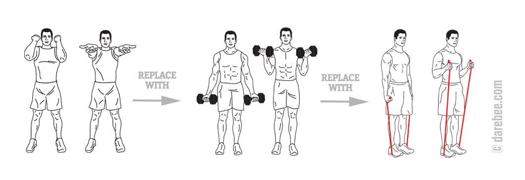 Working biceps with bodyweight training