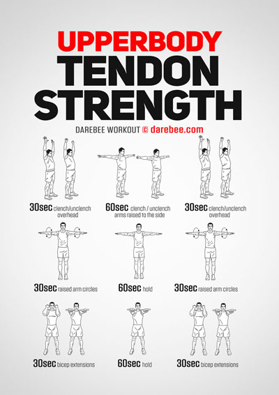 Upper Body Tendon Strength Workout by Darebee
